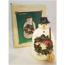 Hallmark 2005 Winter Friends - Natures Sketchbook Snowman Display - #QXM8165-SDB