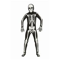 """Disappearing Man Skeleton Bone Suit Costume Teen up to 40"""" chest"""