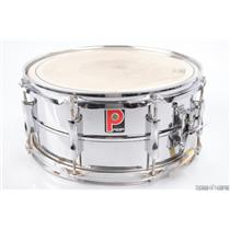 "Premier England Steel Metal 14"" x 6.5"" Snare Drum Polished Chrome #31104"