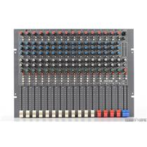 Hill Multimix 16 Channel 4 Bus Mixer w/ Manual & Power Supply Rack Unit #31553