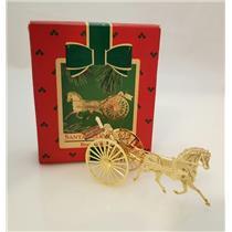 Hallmark Keepsake Ornament 1984 Santa Sulky Driver - Brass - #QX4361-DB