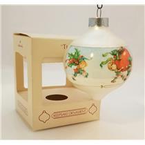Hallmark Keepsake Glass Ball Ornament 1984 Teacher - #QX2491