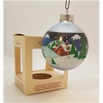 Hallmark Keepsake Glass Ball Ornament 1984 Grandparents - #QX2561-DBNT