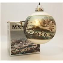Currier & Ives Glass Ball Ornament American Winter Scenes - Morning - #CIAWSM-DB
