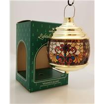 Hallmark Keepsake Ornament 1984 Stained Glass - Optional Lighting - #QLX7031