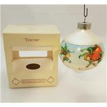 Hallmark Keepsake Glass Ball Ornament 1984 Teacher - #QX2491-DB