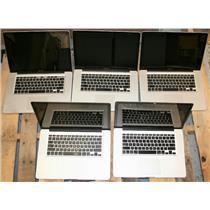 """LOT 5 APPLE MacBook Pro 15"""" Core i5 i7 2nd 3rd Gen 2011 2012 AS IS Laptop"""