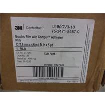 3M 75-3471-8587-0 Graphic Film w/ Comply Adhesive - WHITE - IJ180CV3-10