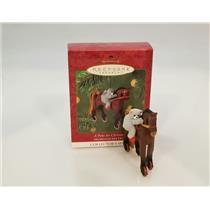 Hallmark Keepsake Series Ornament 2001 A Pony For Christmas #4 - #QX6995
