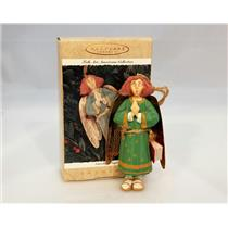 Hallmark Keepsake Ornament 1996 Caroling Angel - Folk Art Americana - #QK1134