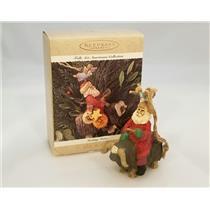 Hallmark Keepsake Ornament 1995 Guiding Santa - Folk Art Americana - #QK1037