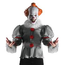 IT the Movie 2017 Version Deluxe Pennywise Clown Adult Costume with Mask Size XL