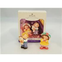 Hallmark Ornament 1998 Bashful Gift - Set of 2 Ornaments - #QEO8446