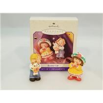 Hallmark Ornament 1998 Bashful Gift - Set of 2 Ornaments - #QEO8446-SDB