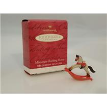 Hallmark Miniature Ornament 2001 Rocking Horse - #QC4592