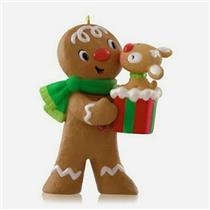 Hallmark Limited Ornament 2014 Kisses For Kacey - Gingerbread Man - #QXE3756