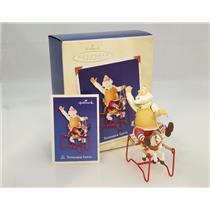 Hallmark Series Ornament 2003 Toymaker Santa #4 - Rocking Horse - #QX8159