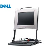 """DELL GK545 15"""" 1U Rackmount LCD Monitor Keyboard Mouse Console + rails and cable"""