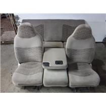 1999 - 2003 FORD F350 F250 XLT (TAN) EXTENDED CAB SEATS WITH MIDDLE CONSOLE