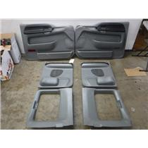 2005 - 2007 FORD F350 F250 EXTENDED CAB DOOR PANELS (GREY) FRONT/BACK