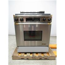 "Dacor 30"" 4 Burner Gold Accent Gas Range EGR30SO6BR"