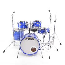 Yamaha Club Custom Blue Swirl 5-Piece Drum Set w/ Throne Pedal & Hardware #32340