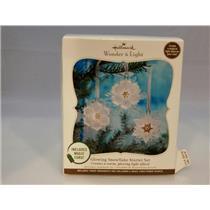 Hallmark 2010 Glowing Snowflake Starter Ornament Set With Magic Cord #QXG3626-DB