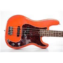 Fender Hot Rod American USA Precision PJ Bass Guitar Sunset Orange & Case #32562