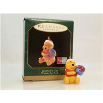 Hallmark Miniature Ornament 1997 Honey of a Gift - Winnie the Pooh - #QXD4255