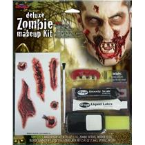 Deluxe Zombie Walking Dead Makeup Kit Tattoos and Teeth