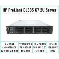 HP ProLiant DL385 G7 Server 2xOpteron 6344 12-Core 2.6GHz + 128GB RAM + 16x600GB