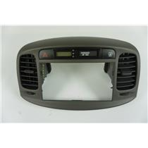 06-2011 Hyundai Accent Radio Climate Dash Bezel with Vents, Clock, Rear Defrost