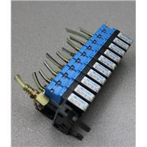 (Lot of 10) Parker Pneutronics 911-000006-020 Solenoid Valves w/ Manifold