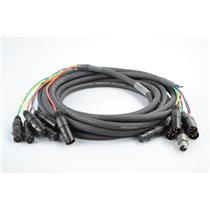 20' Gepco GA72408GFC Custom 6 Channel 4x2 XLR Snake Cable 2 Returns #32810