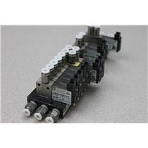 (10) MAC Solenoid Valves With Circuit Bar 34B-AAA-GDDO-AKJ9 + 44B-AAA-GEUO-1KJ9