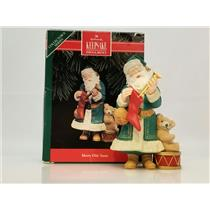 Hallmark Series Ornament 1992 Merry Olde Santa #3 - Santa Claus - #QX4414-DB