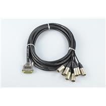 Vintage King 15' DB25-XLR Male Jumperz Ziplines ZL8 8 Channel Snake Cable #32789