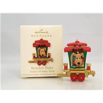Hallmark Miniature Ornament 2011 Reindeer Rider - Santa's Holiday Train #QRP5917