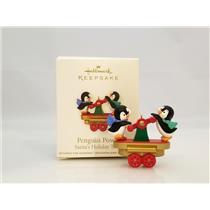 Hallmark Miniature Ornament 2011 Penguin Power - Santa's Holiday Train - QRP5927