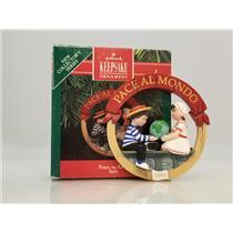 Hallmark Series Ornament 1991 Peace On Earth #1 - Italy - Pace Al Mondo - QX5129