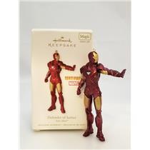 Hallmark Magic Ornament 2010 Defender of Justice - Iron Man - Tony Stark 2233SDB