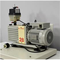 Edwards 28 Rotary Vacuum Pump E2M28 w/ EMF 20 Oil Mist Filter A373-15-903