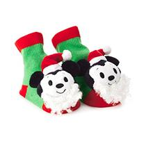 Hallmark 2017 Itty Bitty's Holiday Mickey Mouse Rattle Socks - #KDD1240