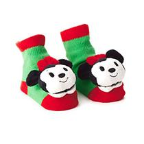 Hallmark 2017 Itty Bitty's Holiday Minnie Mouse Rattle Socks - #KDD1241