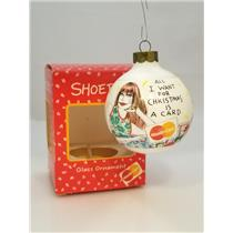 Hallmark Shoebox Ornament 1992 All I Want for Christmas is a Mastercard #XPR1015