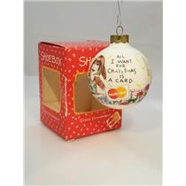 Hallmark Shoebox Ornament 1992 All I Want for Christmas is a Mastercard #1015-DB
