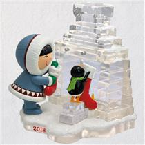 Hallmark Series Ornament 2018 Frosty Friends #39 - Frosty and Penguin - #QX9456