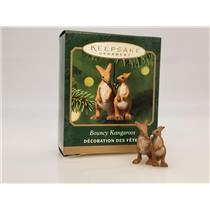 Hallmark Miniature Ornament 2001 Bouncy Kangaroos - Noah's Ark - #QXM5332