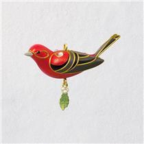 Hallmark Miniature Ornament 2018 Red Tanager - Beauty of Birds - #QXM8176
