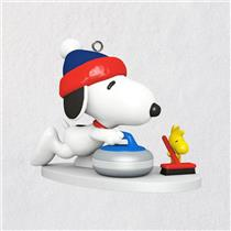 Hallmark Miniature Series Ornament 2018 Winter Fun with Snoopy #21 - #QXM8146